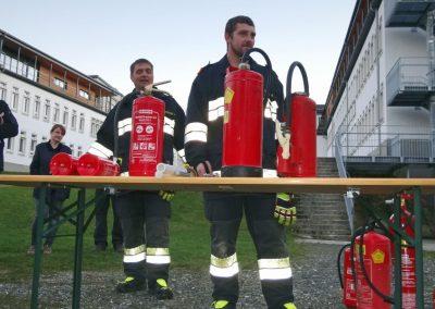 Brandschutzübung für Lehrer